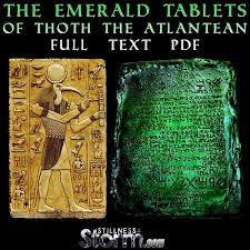 Stillness in the Storm : The Emerald Tablets of Thoth the Atlantean - Full  Text Pdf | Emerald tablets of thoth, Ancient atlantis, Ancient mysteries