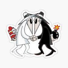 "Spy vs. Spy "" Sticker by shirtdude13 | Redbubble"
